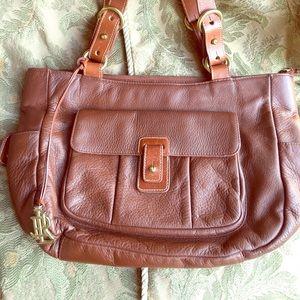 Medium size chocolate brown Ralph Lauren bag.
